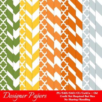 Citrus Fun Colors Pattern Digital Papers