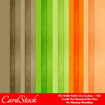 Citrus Garden A4 size Card Stock Digital Papers