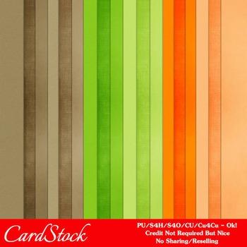 Citrus Garden Colors Cardstock Digital Papers
