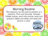 Citrus Morning Routine Poster/Checklist