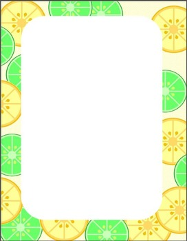 Citrus Salad background and clip art set