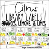 Citrus Theme Classroom Decor Library Book Labels
