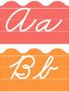 Tropical Classroom Decor: Zaner-Bloser Cursive Alphabet Line