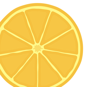 Citrus in Rainbow Colors Clip Art Set for Commercial Use