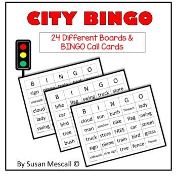 City BINGO {A Game of City Sights}