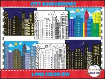 City Backgrounds Clip Art