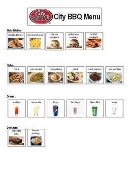 City Barbecue Order Form