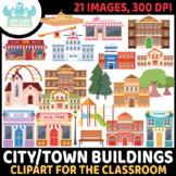 City Buildings/Town Buildings Clipart (Lime and Kiwi Designs)