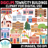 City Buildings/Town Buildings DigiClips, Movable Digital P