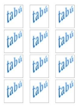 City / Country Spanish Vocabulary Taboo Game
