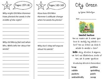 City Green Trifold - ReadyGen 2016 2nd Grade Unit 3 Module B