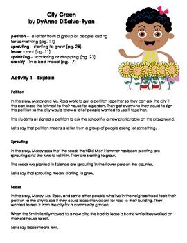 City Green - Vocabulary Work
