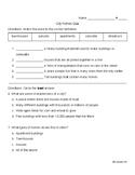 City Homes Quiz - Ready Gen 3rd Grade Unit 2 Module B