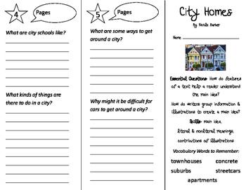 City Homes Trifold - ReadyGen 3rd Grade Unit 2 Module B