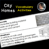 City Homes Vocabulary