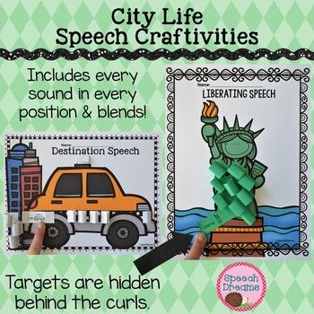 Speech Therapy Activity: City Life Craft {Fine Motor Skills}