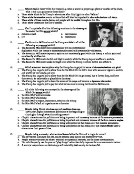 City Lights Film (1931) 15-Question Multiple Choice Quiz