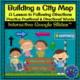 City Map Building Activity: Following Directions Using Positional Words