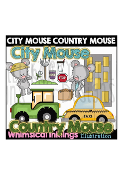 City Mouse Country Mouse 2 Clipart Collection