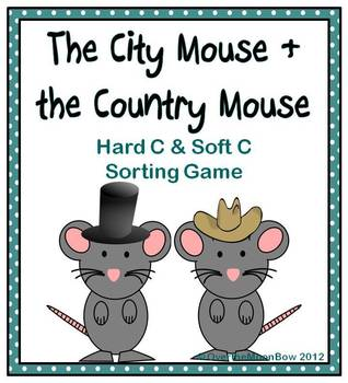 """City Mouse & Country Mouse Hard & Soft """"C"""" Sort Activity ..."""