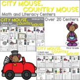 City Mouse Country Mouse   Literacy Centers and Math Centers