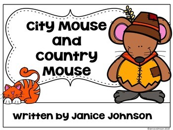 City Mouse and Country Mouse Reader ~ Simplified Reader + BOOM™ Version w Audio