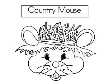 City Mouse and Country Mouse hat