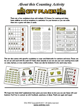 City Places Number / Counting Activities