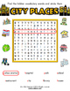 City Places Worksheet Set / Activity Packet and Flashcards