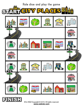 City Places board Game