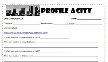 City Populations: A Number Sense Activity