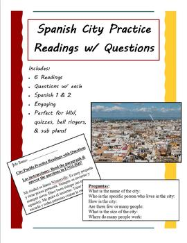 City Practice Readings with Questions - Spanish
