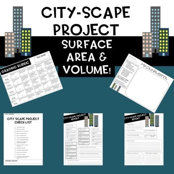 City-Scape (Sky Scraper) Project for Surface Area and Volume