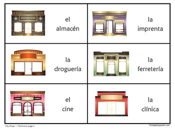 City Shops in Spanish