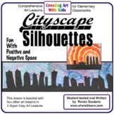 Art Lesson - Cityscape Silhouettes - Positive and Negative Space