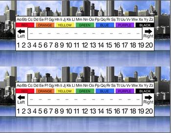 City Skyline Desk Name Tag Plates Set