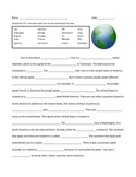 City, State, Country, Continent - Basic Geography Terms  Fill in the Blank