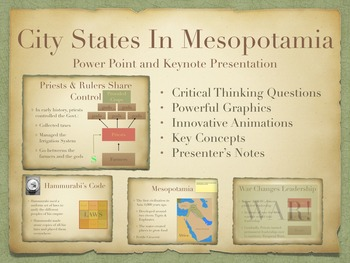 City-States In Mesopotamia Power Point and Keynote Presentations