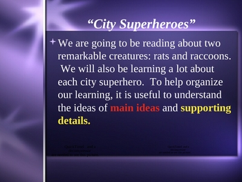 """""""City Superheroes"""" Main Idea and Supporting Details - Open Court"""