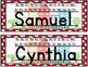 City Themed Name Plates (editable)