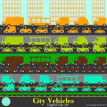 City Vehicles Clip art Earth Colors