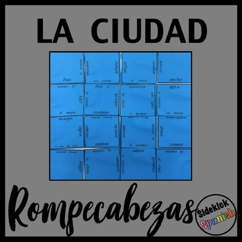 City Vocabulary Puzzles (Spanish)