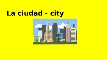City Vocabulary words with pictures and definitions