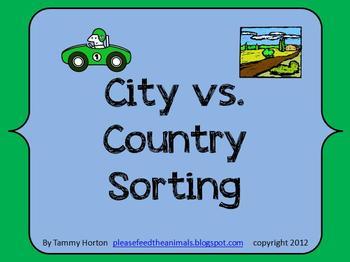 City Vs. Country Sorting