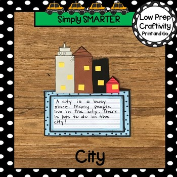 City Themed Writing Cut and Paste Craftivity