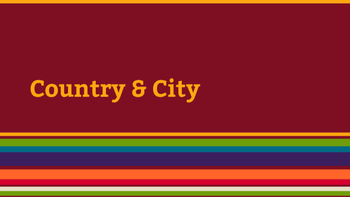 City and Country Presentation