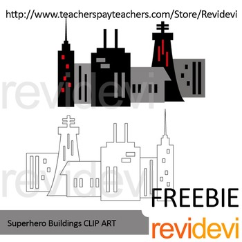 City buildings clip art Free