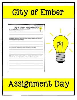 City of Ember Assignment Day reflection