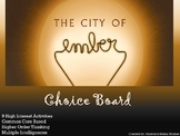 City of Ember Choice Board Novel Study Activities Menu Book Project Tic Tac Toe