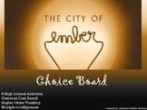 City of Ember Choice Board Novel Study Activities Menu Boo